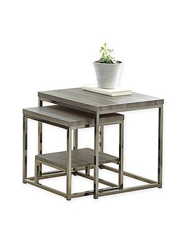 Steve Silver Co. Lucia 2 Piece Nesting Table In Grey by Bed Bath And Beyond