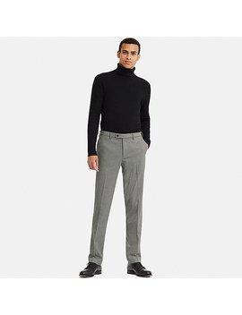 Men Heattech Stretch Slim Fit Trousers by Uniqlo