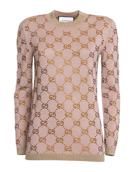 Gucci Women's 539722x956a2552 Beige Wool Sweater by Gucci