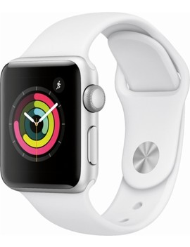 Apple Watch Series 3 (Gps), 38mm Silver Aluminum Case With White Sport Band   Silver Aluminum by Apple