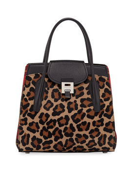 Bancroft Leopard Tartan Satchel Bag by Michael Kors