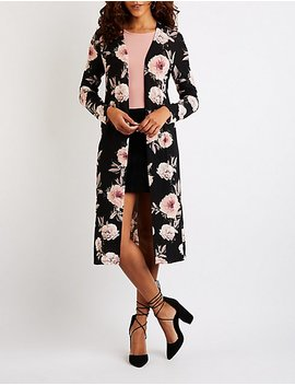 Floral Duster Cardigan by Charlotte Russe