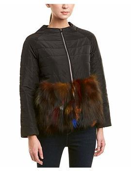 Adrienne Landau Womens Quilted Jacket, S, Black by Adrienne Landau
