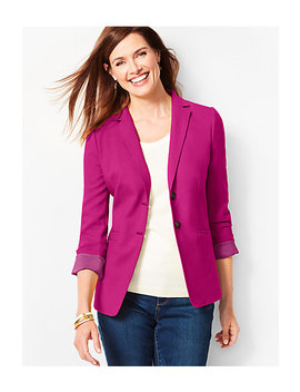 Bi Stretch Wool Blazer by Talbots