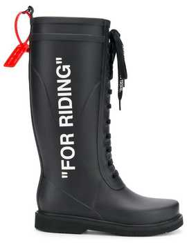 Labelled Wellington Boots by Off White
