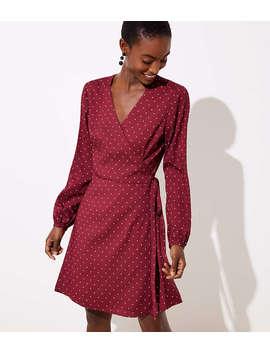Petite Star Wrap Dress by Loft