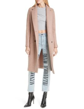 Double Face Wool Blend Car Coat by T By Alexander Wang