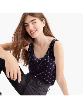 Printed Velvet Tank Top by J.Crew