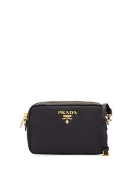 Small Saffiano Leather Camera Crossbody Bag by Prada