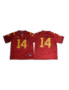 Sam Darnold Jersey 14 Usc Trojans No Nameplate Cardinal White Football Jersey by Ebay Seller