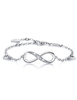 Billie Bijoux Womens 925 Sterling Silver Infinity Endless Love Symbol Charm Adjustable Bracelet Gift For Women by Billie Bijoux