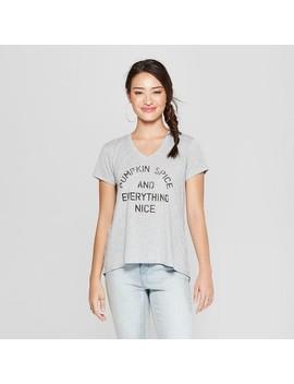 Women's Short Sleeve Pumpkin Spice Graphic T Shirt   Grayson Threads (Juniors') Heather Gray by Grayson Threads