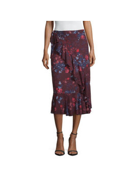 Liz Claiborne Woven Faux Wrap Skirt by Liz Claiborne