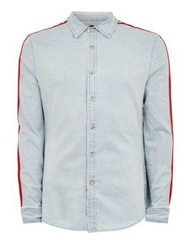 Bleach Red Taping Long Sleeve Shirt by Topman
