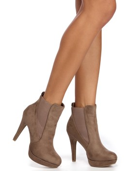 Sophisticated In Suede Booties by Windsor