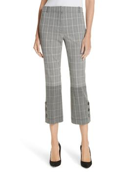 Mixed Plaid Crop Flare Pants by Derek Lam 10 Crosby