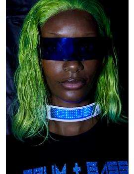 Chrome Beamed Up Baddie Light Up Choker by Club Exx