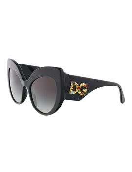 Dg4321 B5018g Black Cat Eye Sunglasses by Dolce & Gabbana