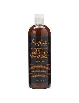Shea Moisture African Black Soap 2in1 Bubble Bath & Body Wash   16oz by Shea Moisture