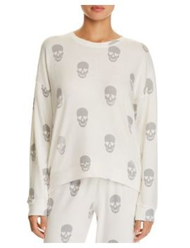 Simple Skull Long Sleeve Pj Top by Pj Salvage