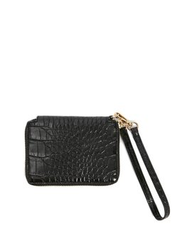 Faux Reptile Leather Wallet by Forever 21