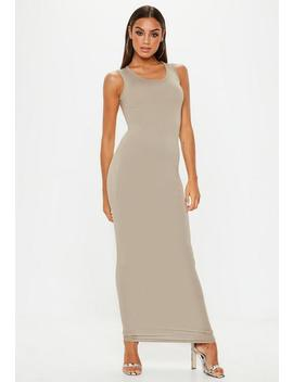 Stone Square Neck Maxi Dress by Missguided