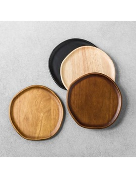 Appetizer Plates Set Of 4 Wood   Hearth & Hand™ With Magnolia by Shop Collections
