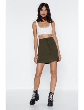 Oh Tie There Mini Skirt by Nasty Gal