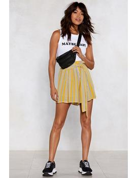 Reveal Your Stripes Paperbag Shorts by Nasty Gal