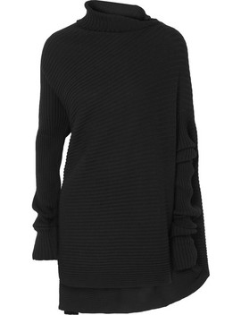 Asymmetric Ribbed Merino Wool Sweater by Marques' Almeida