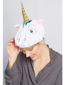 Because Of Unicorn Shower Cap by Modcloth