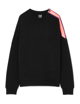 Major Win Oversized Zip Detailed Stretch Neoprene Sweatshirt by P.E Nation