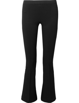Cropped Stretch Ponte Leggings by Helmut Lang
