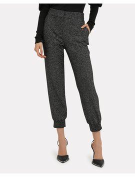 Gretta Lurex Tweed Jogger Pants by Veronica Beard