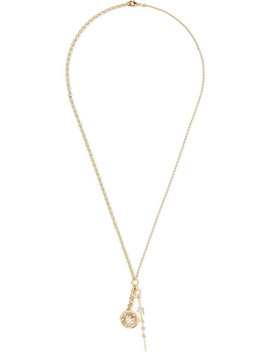 Millie Fleur And Thorn 18 Karat Gold Diamond Necklace by Foundrae