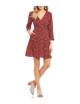 Ditsy Floral Button Front Dress by Copper Key