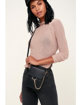 Kaja Black Convertible Bag by Lulus