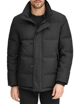 Bryant Fur Collar Mid Length Down Parka by Andrew Marc