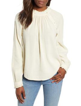 Textured Cotton Blouse by Caslon®