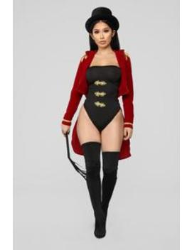 Miss Ring Leader Costume   Red/Combo by Fashion Nova