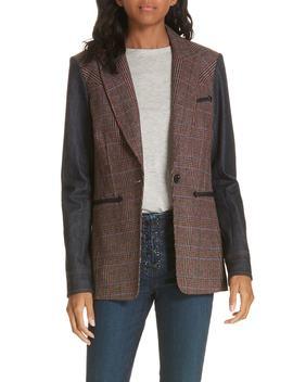 Mela Denim Sleeve Dickey Jacket by Veronica Beard