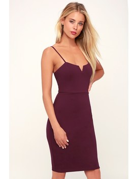 Gianna Plum Purple Sleeveless Bodycon Dress by Lulus