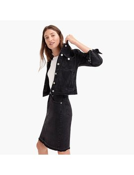 Classic Denim Jacket In Black by J.Crew