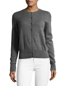 Cashmere Basic Buttoned Cardigan by Lord & Taylor