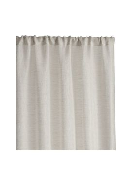 "Linen Sheer 52""X108"" Natural Curtain Panel by Crate&Barrel"