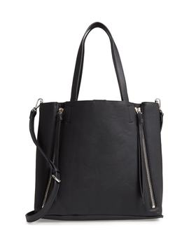 Leigh Convertible Zipper Faux Leather Tote by Chelsea28