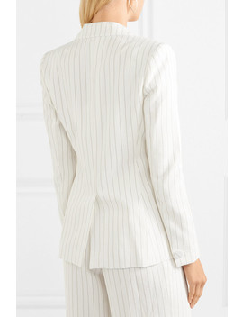 Dominique Pinstriped Crepe Blazer by Rachel Zoe