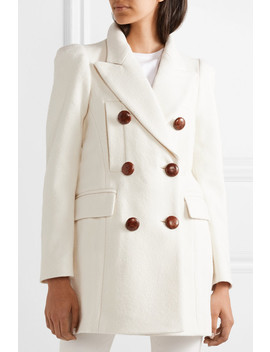 Klea Double Breasted Cotton Blend Twill Coat by Isabel Marant