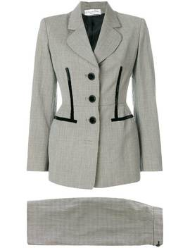 Houndstooth Skirt Suit by Christian Dior Vintage