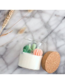 Cacti Candle by Etsy